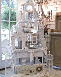 Penny's Vintage Home: How to Display a Collection of Birdcages