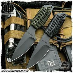 Monkey Edge - Strider Knives Fixed: SA Cerakote Black Cord Wrapped Military Knives, Combat Knives, Tactical Pocket Knife, Tactical Knives, Pocket Knives, Knives And Tools, Knives And Swords, Strider Knives, Knife Template
