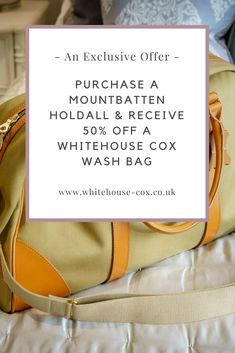 Purchase a beautiful Mountbatten Holdall and receive off a Whitehouse Cox Wash Bag. The perfect duo for those long weekends away. Fashion Articles, Fashion Advice, Travel Style, Travel Bag, Wash Bags, Long Weekend, Beautiful Bags, Wool Felt, Journal