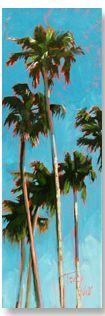 "Tracy Wall | ""Goleta Beach Rock Stars"" I Oil, 24 x 8"""