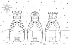 Dibujos para colorear de Reyes Magos - Entre Padres Coloring Sheets, Coloring Pages, Kids Christmas, Christmas Crafts, Paint Pens For Rocks, Man Crafts, Three Wise Men, Sunday School Crafts, Christmas Clipart