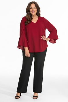 0cfe6faad6a3e Our plus size Ellie Crepe Blouse is comfortable and flattering for the  office. Pair it