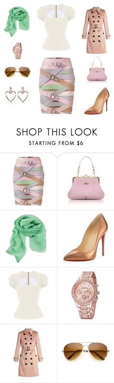 """Spring date"" by edith-a-giles ❤ liked on Polyvore featuring Marina Hoermanseder, Vivienne Westwood, Christian Louboutin, Roland Mouret and Burberry"