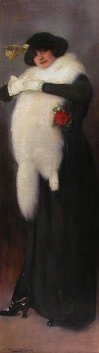 RAMON CASAS  Winter 1914   Oil on canvas   178.5 x 50 cm