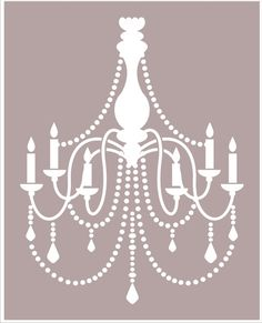 Chandelier STENCIL Available in 6 sizes por SuperiorStencils