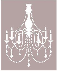 Chandelier STENCIL Available in 6 sizes  por SuperiorStencils