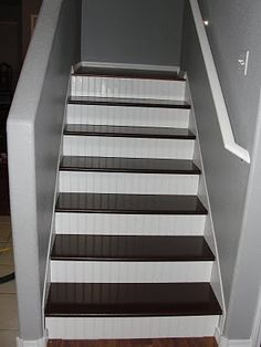 Laminate Flooring On Stairs laminate flooring on stairs how to start installation use stair jig diy tips mryoucandoityourself youtube Treads One Hundred And Twelve Dollars Bead Board On Risers Fifty