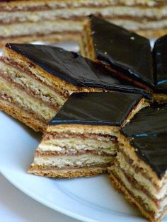 """Hungarian Gerbeaud Cake (Zserbó szelet) is probably the best known Hungarian dessert. I am sure if you hear the name of Hungarian Gerbeaud, you associate with the Café Gerbeaud in heart of Budapest. But to me, this word """"Gerbeaud"""" means this wonderful and delicious homemade"""