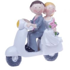 Comical Cake Topper Scooter This comical fun cake topper has the bride and groom sat on a lambretta style scooter Approx size - height width depth Material - resin Wedding Cake Toppers, Amazing Cakes, Decorative Accessories, Bride Groom, Big Day, Smurfs, Wedding Decorations, Reception, Disney Princess