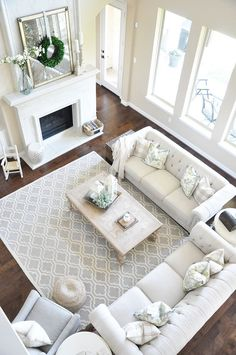 Living room Furniture Layout. This is a classic living room furniture layout that works perfectly in many open concept homes. Living room Furniture Layout. Living room Furniture Layout. Living room Furniture Layout. Living room Furniture Layout #LivingroomFurnitureLayout #LivingroomFurnitureLayout #Livingroom #FurnitureLayout Home Bunch's Beautiful Homes of Instagram @thegracehouse