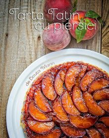 Tatin tart with peach Party Sweets, Just Desserts, Chicken Wings, Baked Goods, Carrots, Deserts, Food And Drink, Cooking Recipes, Peach