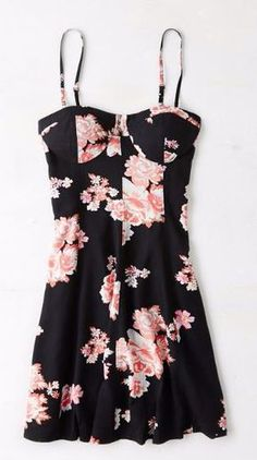 AEO Printed Corset Dress at American Eagle Outfitters - Trendslove