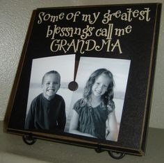 Love this idea for a cute gift to give to my little guys' nana and gigi!! This would be easy to make!