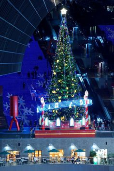 Christmas Tree at JR Kyoto Station, Japan 京都駅