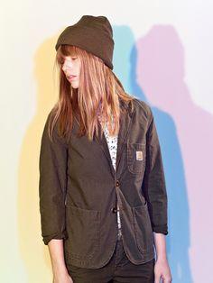 Logo Clip Belt Chrome, Acrylic Watch Hat, W' L/S Poppy Shirt, X' Cane Blazer