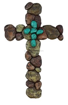 Pebble Rock Layered Wall Cross