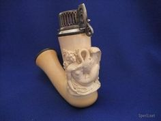 antique meerschaum cheroot pipe