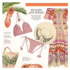 """""""Shades of Summer"""" by redflowergirl ❤ liked on Polyvore featuring Temperley London, SHE MADE ME, Paula Cademartori and Eugenia Kim"""