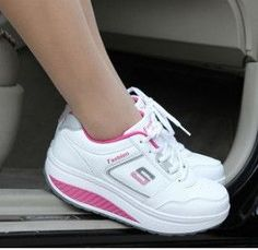 Slimming Ladies Fitness Sports Swing Sneakers 4 Colors