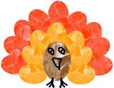 Thanksgiving:  Thumbprint Turkey!