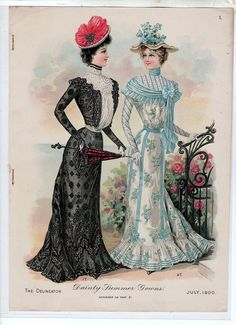 """Dainty Summer Gowns"" ~ The Delineator, July 1900"