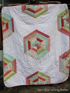 ruby hex quilt...and remember to vacuum jelly rolls!