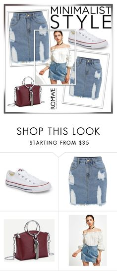 """Romwe 9"" by ermina-camdzic ❤ liked on Polyvore featuring Converse and romwe"
