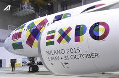Ready to go! Alitalia and #Etihad celebrating #Expo2015 Milano with new #livery