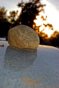 A beautiful Jewish tradition of leaving a rock or small stone on the grave instead of flowers. The rock lasts so much longer.