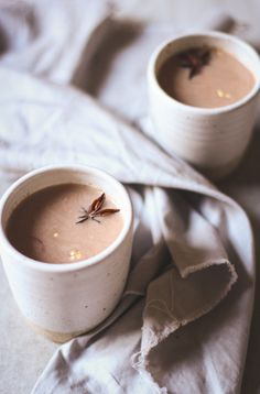 Chili chai hot chocolate with roasted hazelnut milk