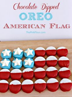 American Flag Oreos - a patriotic treat that will be a hit at any 4th of July or Memorial day