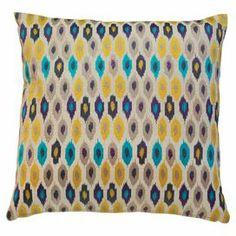 Rabat Pillow in Purple & Yellow
