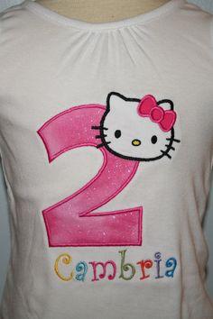 Hello Kitty Birthday shirt by LilMonkeyStitchesWV on Etsy, $20.00