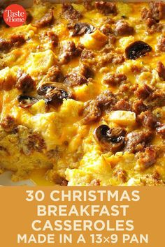 30 Comforting Casserole Recipes for Christmas Breakfast 30 Christmas Breakfast Casseroles Made in a Pan Christmas Breakfast Casserole, Brunch Casserole, Casserole Recipes, Chicken Casserole, Hamburger Casserole, Chicken Enchiladas, Chicken Soup, Breakfast Time, Breakfast Dishes