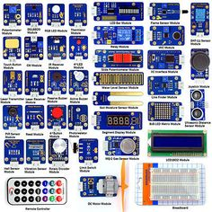 Adeept New 42 Modules Ultimate Sensor Starter Kit for Arduino UNO R3 Processing