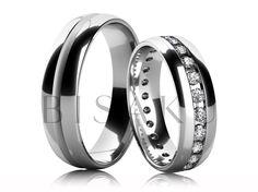 4235-4 Přála jste si, aby váš vysněný snubní prstýnek zdobily větší kamínky po celém obvodě, ale přesto byl celkově jemný a nepůsobil masivně? Pak je tento model určený právě pro vás. Kamínky či brilianty o průměru 2,0 mm zahrnou váš prst do nekonečného třpytu. Pánský prsten vyrobíme v libovolné šířce. #bisaku #wedding #rings #engagement #svatba #snubni  #prsteny
