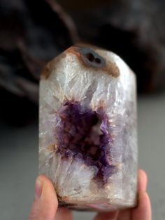 "6"" amazing amethyst geode point - stone of hope"