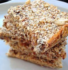 Coconut & Flax breakfast bars, healthy and low sugar