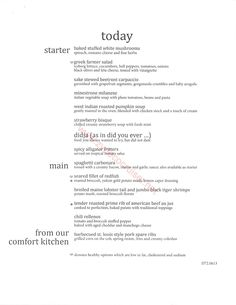 Main Dining Room Menus For 6 Day Cruise  Cruise  Pinterest Magnificent Carnival Cruise Dining Room Menu Inspiration