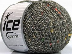 Wool Linen Tweed Rainbow Dark Grey Cream  Fiber Content 60% Virgin Wool, 3% Polyester, 25% Viscose, 12% Linen, Rainbow, Brand Ice Yarns, Dark Grey, Cream, Yarn Thickness 1 SuperFine  Sock, Fingering, Baby, fnt2-53853 Yarns, Dark Grey, Sock, Tweed, Fiber, Rainbow, Content, Cream, Baby