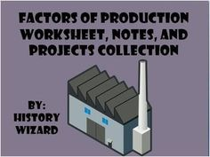 This collection allows students to expand their knowledge and apply the factors of production.   The following is included in this collection:  1. Factors of Production Notes (Simple and to the point) 2. Factors of Production Worksheet (This worksheet is great for class discussion) 3.