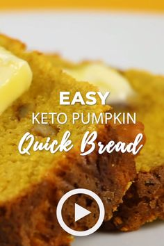Keto Pumpkin Quick Bread - Gluten Free Easy Keto Pumpkin Quick Bread by I Breathe I'm Hungry. You would love this recipe if you're looking for some low carb gluten-free bread. Pin made by .Breathe Breathe may refer to: Desserts Keto, Keto Snacks, Best Keto Bread, Quick Bread, Banana Bread Recipes, Pumpkin Recipes, Healthy Pumpkin Bread, Gluten Free Pumpkin Bread, Galletas Keto