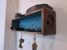 Upcycled Drawer Key Rack, fabness