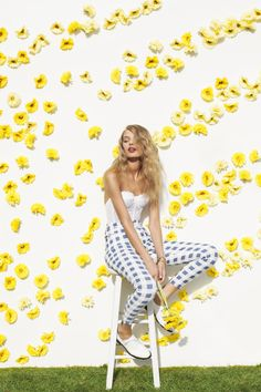 ❀ Flower Maiden Fantasy ❀ beautiful photography of women and flowers - Erotica Lace Bustier, Ozzie Gingham Zip Pant, Daltrey Oxford
