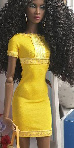 12 inch fashion doll dress made to fit momoko, Barbie silkstone, Barbie fashionistas, Barbie made to Beautiful Barbie Dolls, Vintage Barbie Dolls, Pretty Dolls, Original Barbie Doll, African American Dolls, African American Beauty, African Dolls, Diva Dolls, Black Barbie