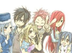 Fairy Tail beautiful art (includes Gruvia and NaLu) Fairy Tail Lucy, Fairy Tail Ships, Art Fairy Tail, Fairy Tail Amour, Image Fairy Tail, Anime Fairy Tail, Fairy Tail Family, Fairy Tail Guild, Fairy Tail Couples