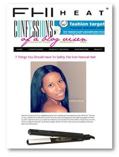 In the words of CelebrityGossipAlley.com the Best Flat Irons for African-American Hair, the FHI Heat Platform Ceramic Styling Iron is a 1 inch flat iron that comes with FHI's trademark Nano-Fuzeion technology. It generates up to 20 times more negative ions and the advanced PTFC heater allows for maximum infrared heat. FHI is a popular brand used by hairstylists worldwide, and the Platform series is among the best flat irons in the market.