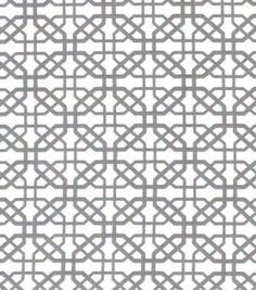 Quilter's Showcase Fabric- Lattice Gray On White, , hi-res