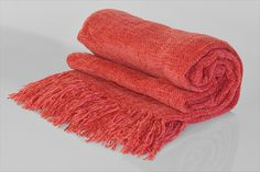 Chenille Throw with frill strawberry No Frills, Strawberry, Colours, Strawberry Fruit, Strawberries