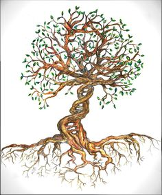 Tree Drawing - Dna Tree Of Life by Joanna Aud Dna Tattoo, Wall Tattoo, Dna Drawing, Life Drawing, Tree Of Life Artwork, Tree Art, Tree Of Life Painting, Art Adn, Dna Kunst